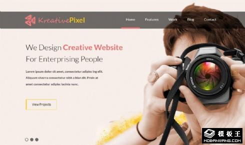 创意像素摄影网页模板