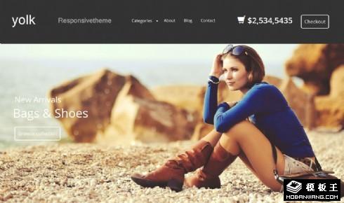 时尚鞋包品牌商城网页模板