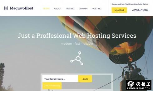 网络云服务器网页模板
