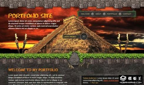 古埃及文明主题网页模板
