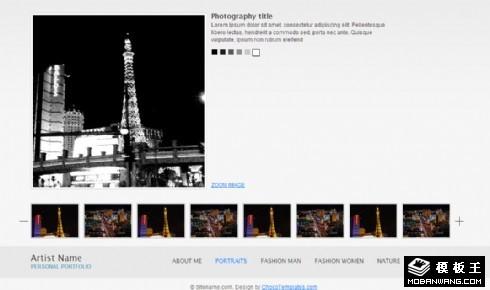 图像照片展示介绍网页模板