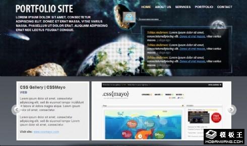 宇宙科技服务网页模板
