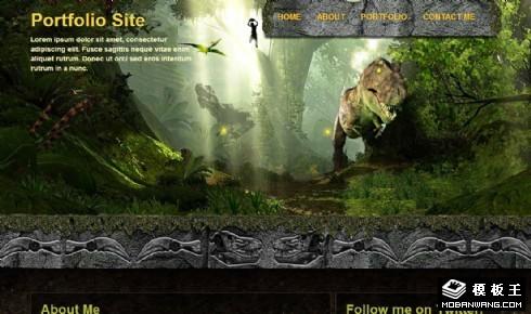 恐龙时代主题网页模板