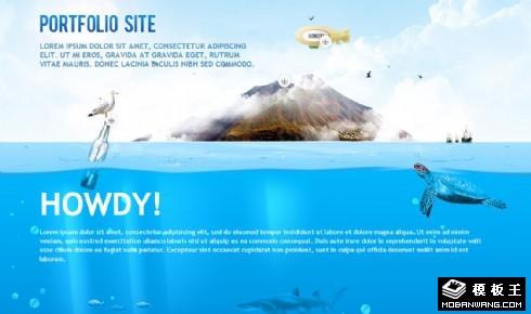 海洋世界主题网站模板