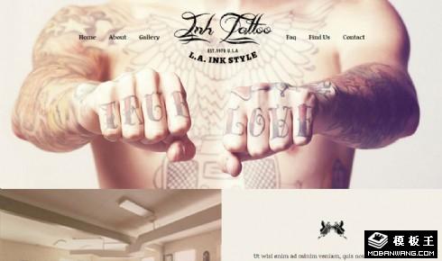 艺术纹身工作室介绍响应式网页模板