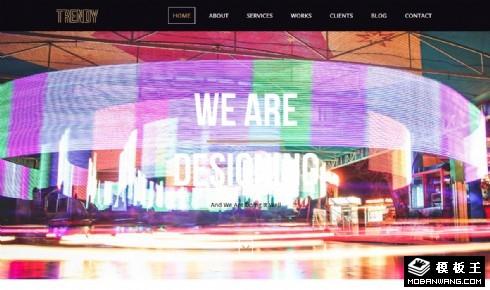 时尚视觉设计自适应网页模板