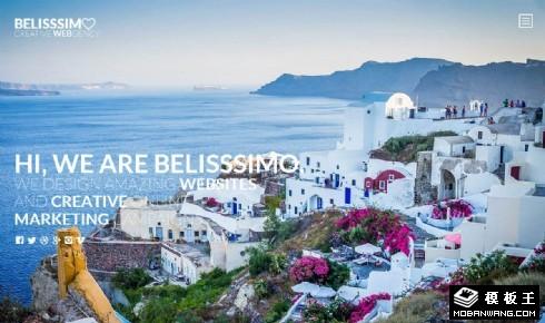 休闲旅行商务响应式网页模板