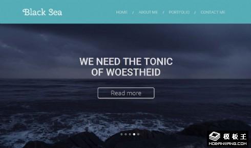 黑海主题个人介绍响应式网页模板