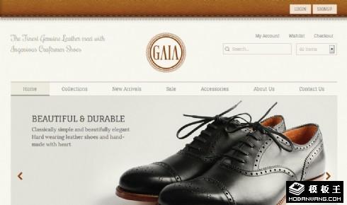 皮鞋网上商城响应式网页模板