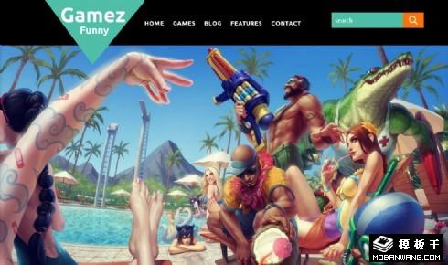 游戏公司开发响应式网页模板