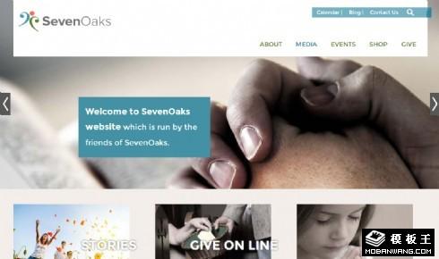 慈善公益教会响应式网页模板