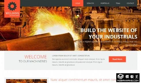 焊接工业技术响应式网页模板