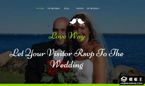 爱的婚礼策划响应式网页模板