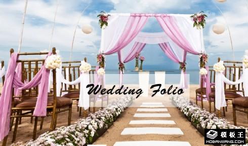 沙滩婚礼策划响应式网页模板