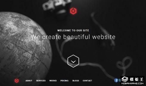 全球科技产品介绍响应式网页模板