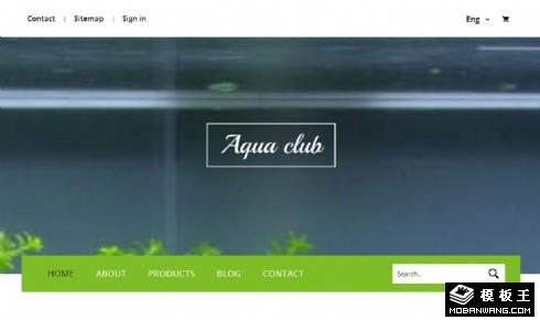 水族馆俱乐部响应式网页模板