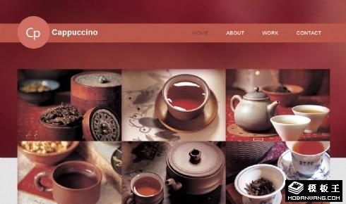 红茶饮品咖啡店响应式网页模板
