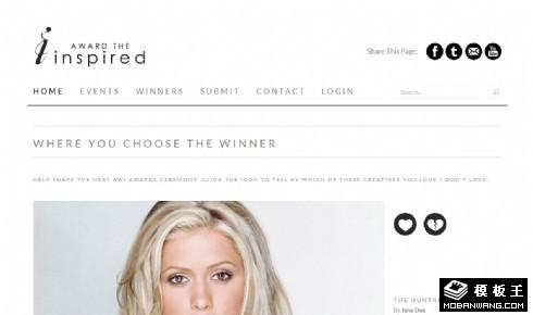 时尚趋势发布响应式网页模板