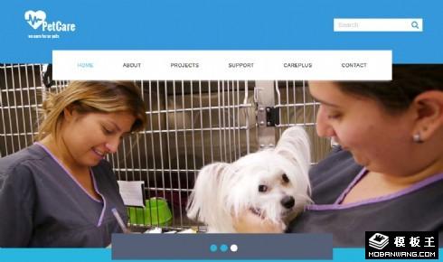 宠物护理中心响应式网页模板