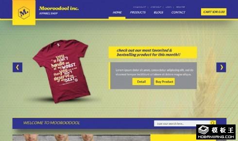 运动T恤专卖响应式网页模板