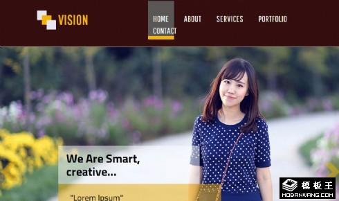 视觉创意动态响应式网页模板