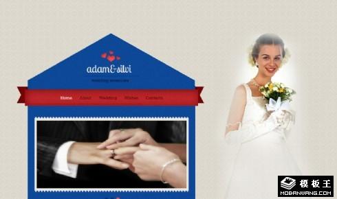 浪漫婚约之屋响应式网页模板