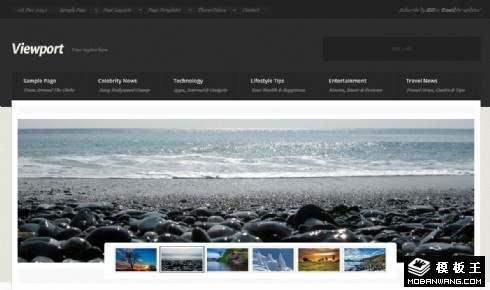 专业性图文信息展示响应式网页模板
