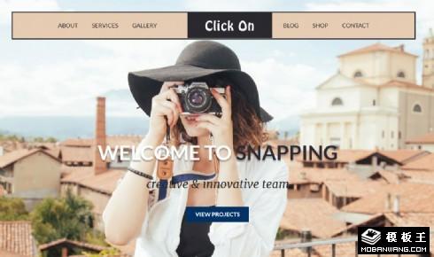 专业摄影师服务介绍响应式网页模板