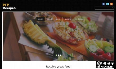 高级餐厅介绍响应式网页模板
