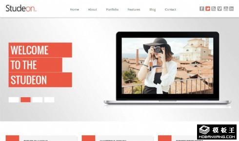 专业摄影机构介绍响应式网页模板