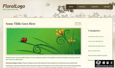 古典花纹博客响应式网页模板