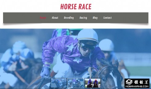 跑马比赛介绍响应式网页模板