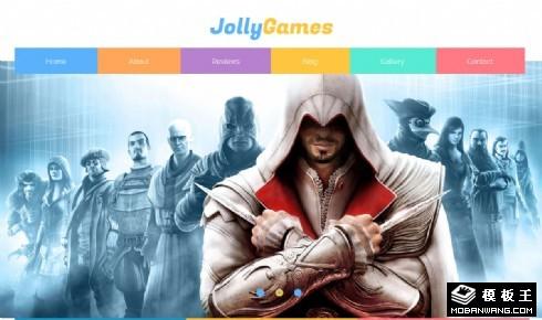 大型游戏介绍响应式网页模板