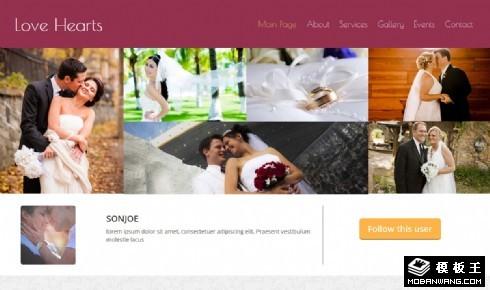 爱的婚礼瞬间响应式网页模板