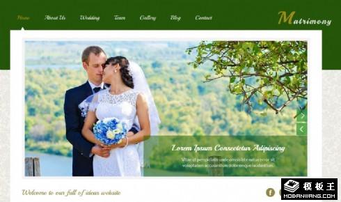 绿色婚庆策划响应式网站模板