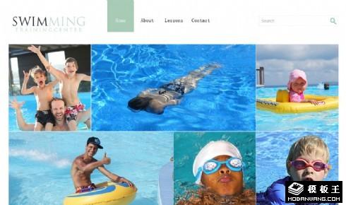 游泳健身俱乐部响应式网站模板
