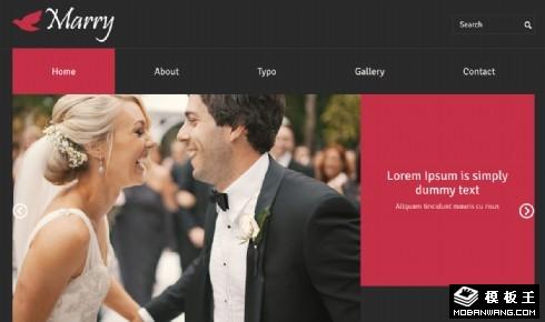 婚礼活动服务响应式网站模板