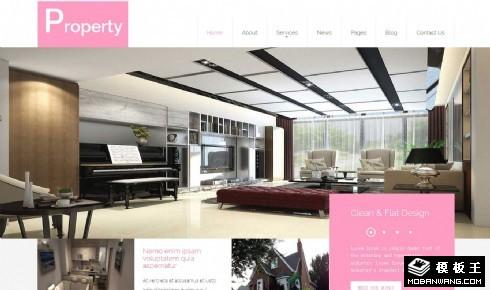 地产销售指南响应式网站模板
