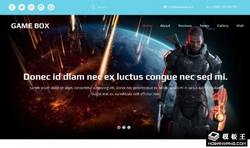 体感游戏介绍响应式网站模板