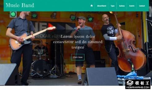 乐队表演响应式网页模板