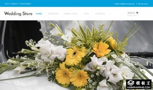 婚纱礼服饰品商城响应式网页模板
