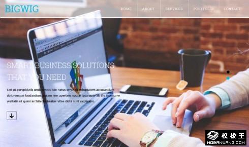 信息化商务服务响应式网页模板