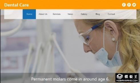 牙科医疗护理响应式网页模板