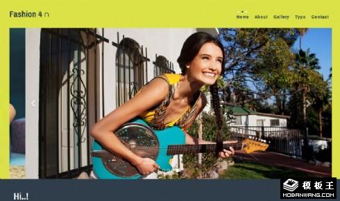 时尚模特摄影制作响应式网页模板