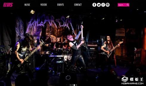 摇滚乐队介绍响应式网页模板