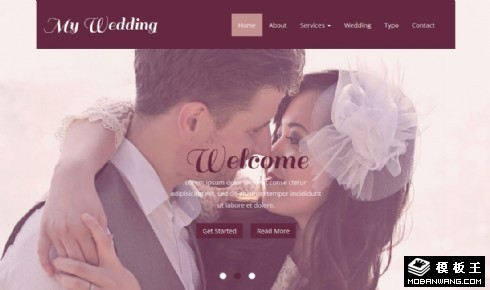我的浪漫婚礼响应式网页模板