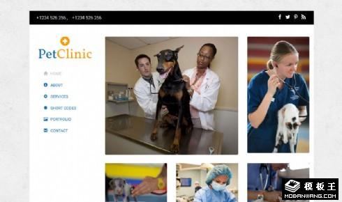 宠物医疗中心响应式网页模板