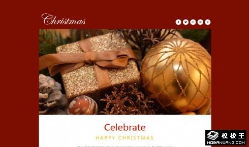 圣诞节活动主题响应式网页模板