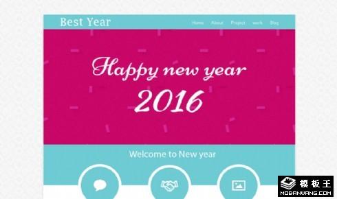 新年节日主题响应式网页模板