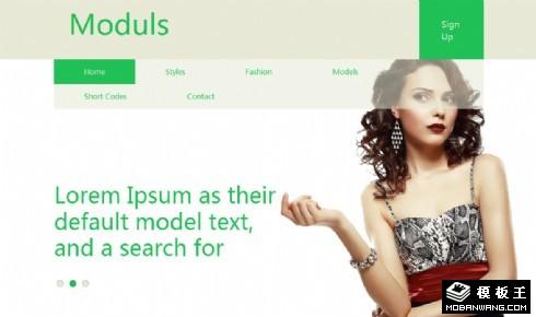 简洁模特公司响应式网页模板